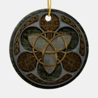 Celtic Trinity Shield Christmas Tree Ornament