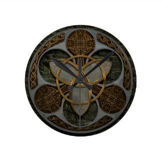 Celtic Trinity Shield Clock