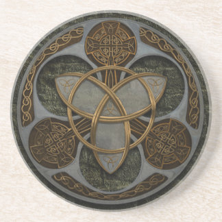 Celtic Trinity Shield Drink Coaster