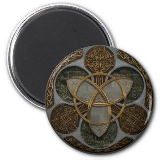 Celtic Trinity Shield 6 Cm Round Magnet