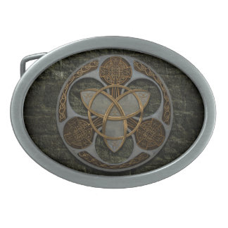 Celtic Trinity Shield Oval Belt Buckle