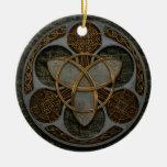 Celtic Trinity Shield Round Ceramic Decoration