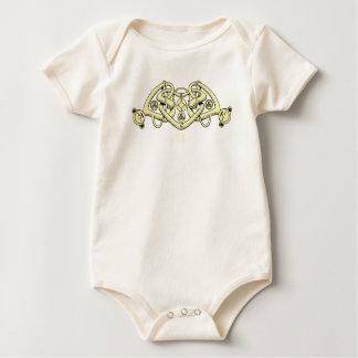 Celtic triple heart baby bodysuit