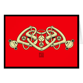 Celtic triple heart valentines greeting card