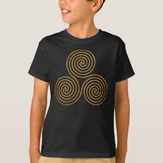 celtic triple spiral - OneLine antique gold Tshirt