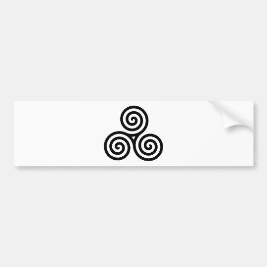 Celtic Triquetra Knot II Bumper Sticker