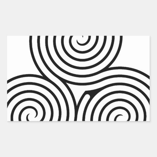 Celtic Triquetra Knot II Rectangular Sticker | Zazzle