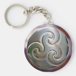 Celtic triskele in silver key ring