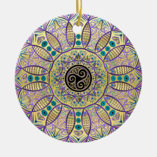 Celtic Triskele Mandala Christmas Tree Ornament