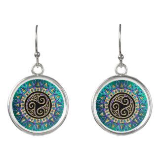 Celtic Triskele Mandala Earrings