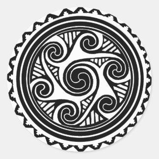 Celtic Triskele Round Sticker