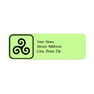 Celtic Triskele Symbol Address Labels