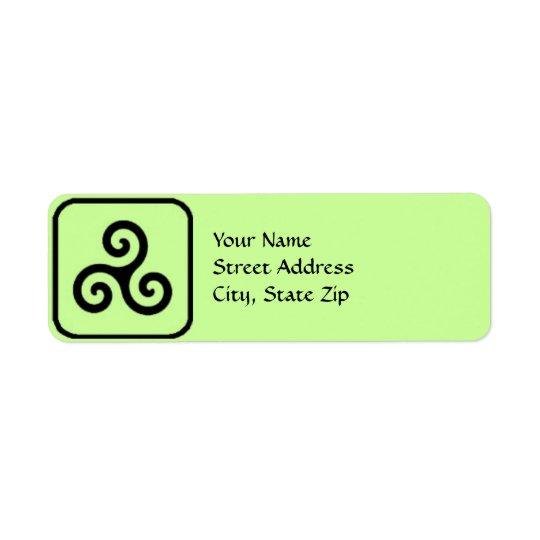 Celtic Triskele Symbol Address Labels