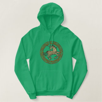 Celtic Unicorn Embroidered Hoodie