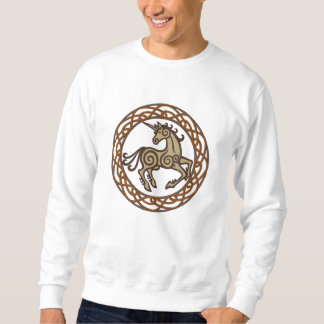 Celtic Unicorn Embroidered Sweatshirt