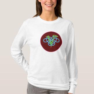 Celtic Vegan Polyamory Red Circle T-Shirt