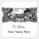 Celtic Vines Landscape Square Stickers