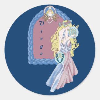 Celtic Virgo Classic Round Sticker
