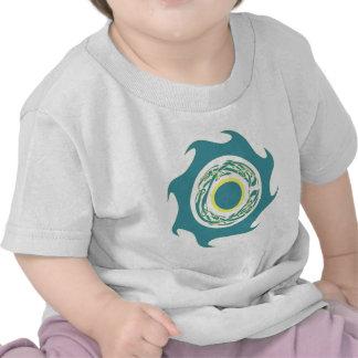 Celtic Wave Band Aqua Yellow Tee Shirts