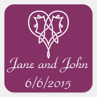 Celtic Weave Hearts in Wine Sticker