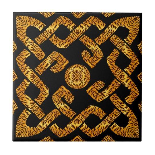 Celtic Weave Tiger Pattern Tile