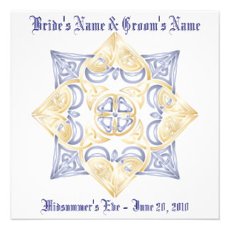 Celtic Wedding Knot Inivitation Non-traditional Custom Announcements