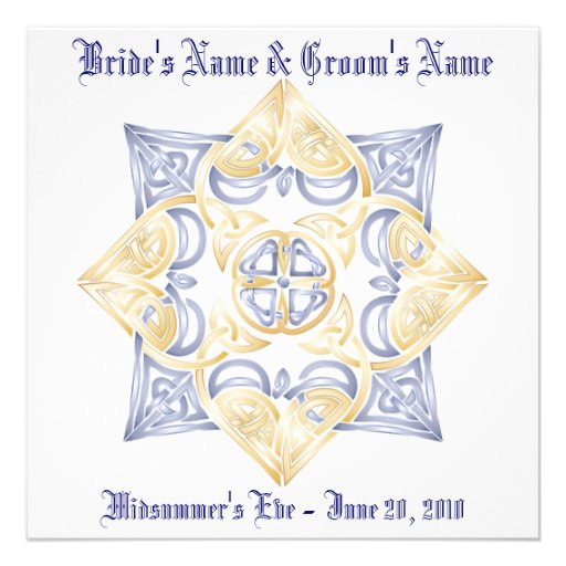 Celtic Wedding Knot Inivitation (Non-traditional) Custom Announcements