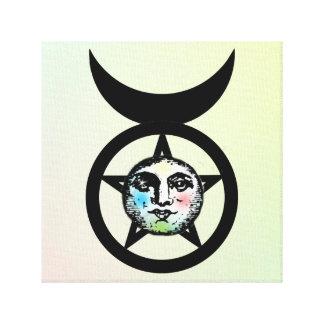 Celtic/Wiccan Elements Aether Horned God Symbol Canvas Print