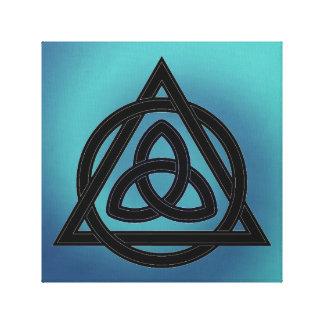 Celtic/Wiccan Elements Water Autumn Symbol Canvas Print
