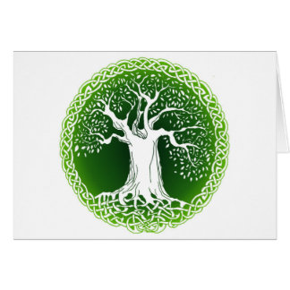 Celtic Wisdom Tree Card
