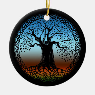 Celtic Wisdom Tree (Earth Version) Christmas Ornament