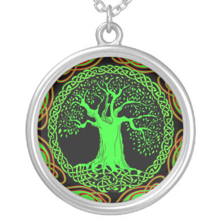 Celtic Wisdom Tree (Earth Version) Silver Plated Necklace