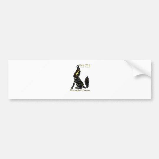 Celtic Wolf Bumper Sticker