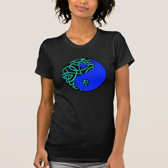 Celtic yin yang teeshirt (Teal and blue) T-Shirt