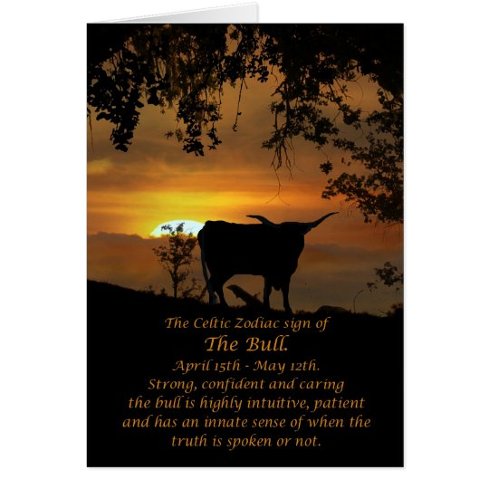 Celtic Zodiac Sign of the Bull Card