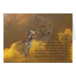 Celtic Zodiac Sign of the Fox (Aries) Greeting Card