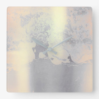 Cement Metallic Grungy Gray Silver Blush Pink VIP Clocks