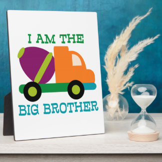 Cement Mixer Big Brother Photo Plaques