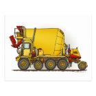 Cement Mixer Truck Post Card