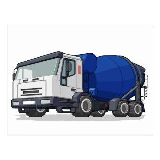 Cement Mixer Truck Postcard