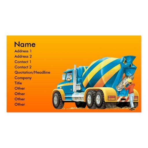 Cement or Concrete Mixer Business Card