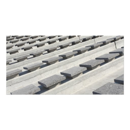 Cement seats personalized photo card