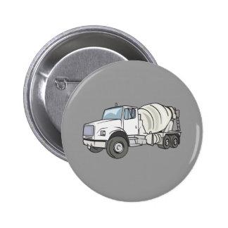 Cement Truck 6 Cm Round Badge