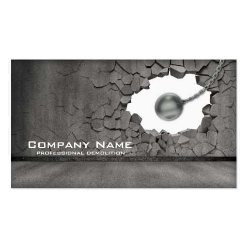 Cement Wall Demolition Works Business Card