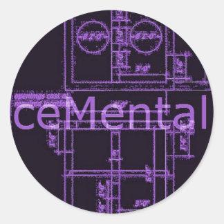 ceMental stick Classic Round Sticker