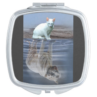 Cements dreams OF white tiger Travel Mirror