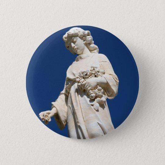 Cemetary Angel 6 Cm Round Badge