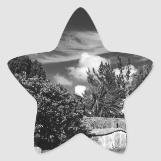 Cemetary-BermudaBW Star Sticker