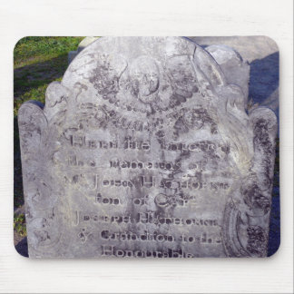 cemetary stone mouse pad