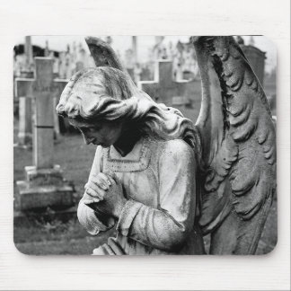 cemetery angel mouse mat